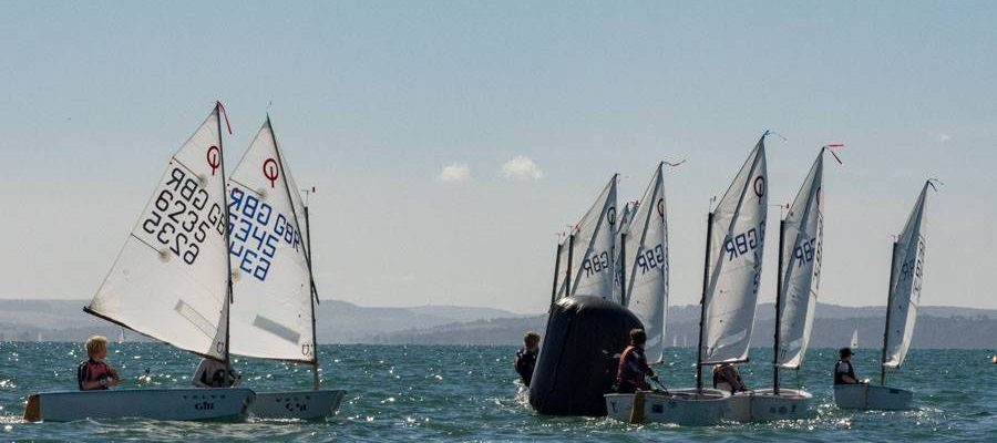Llangorse Junior Sailors at Optimist Late Summer Championships